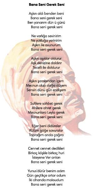 yunus emre şiirleri